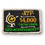 14000 Finds Geo-Achievement Patch